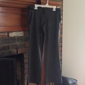 Loft gray trousers with black trim; Size 0P